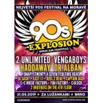 90s EXPLOSION OPEN-AIR FESTIVAL BRNO 2019 festival nejlepších interpretů devadesátých let 2 UNLIMITED, VENGABOYS, HADDAWAY, DR. ALBAN a mnoho dalších - Brno