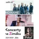 Koncerty na Zimáku 2020 - No Name, Ben Cristovao, Pekař- Jičín