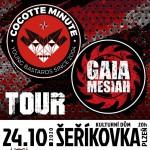 COCOTTE MINUTE, GAIA MESIAH- koncert v Plzni