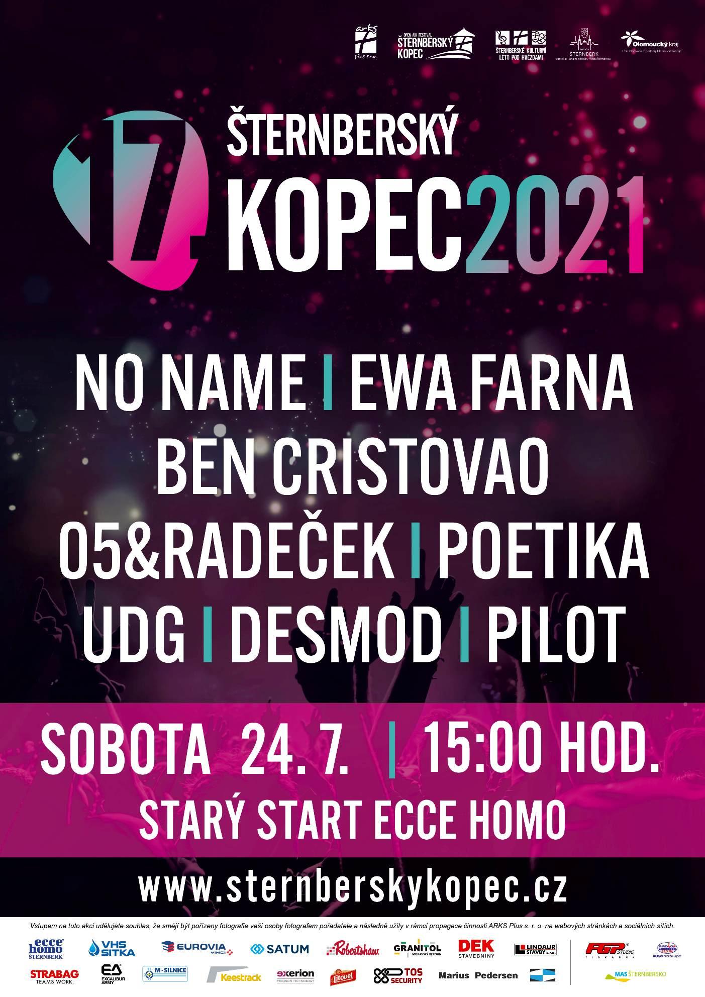 Šternberský kopec- festival Šternberk- NO NAME, EWA Farna, Ben Cristovao, UDG, Desmod a další -Starý start Ecce Homo Šternberk